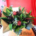 ワインサロン15周年祝い花