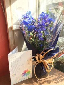 誕生日カラー診断書付き花束